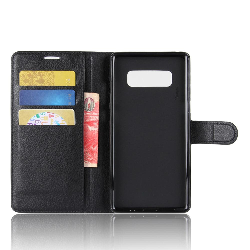 Чехол книжка на Samsung Galaxy Note 8, с отсеком для карт и подставкой от Caseport