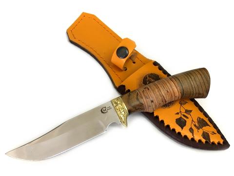 Нож Юнкер, 65Х13, береста, Мастерская Семина