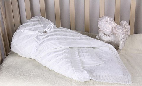 Конверт-одеяло Вязка белый