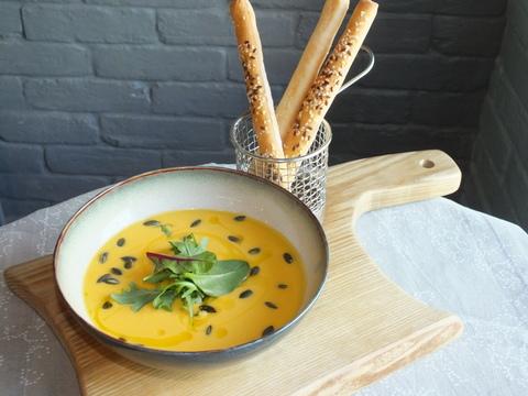 Суп-крем из тыквы на кокосовом молоке