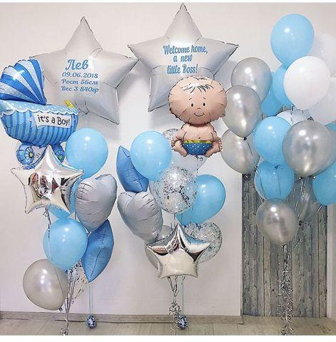 Набор из воздушных шаров на выписку для мальчика №4