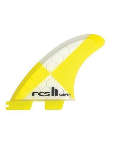 FCS II Carver PC Yellow Large Tri Retail Fins, компл. из трех, L