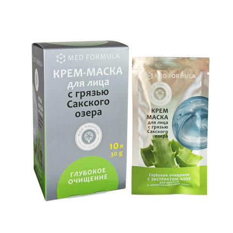 МДП Крем-маска ГЛУБОКОЕ ОЧИЩЕНИЕ для жирной и комбинированной кожи с грязью Сакского озера (саше пакет 30г)