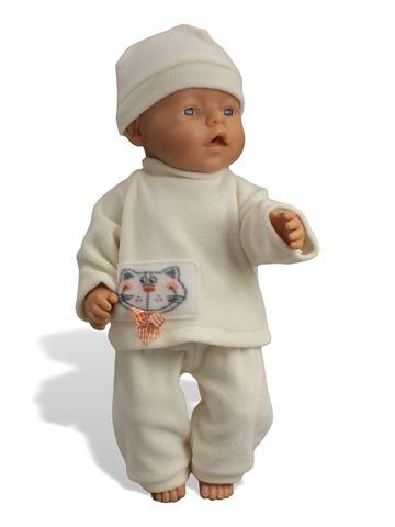 Пижама флис - На кукле. Одежда для кукол, пупсов и мягких игрушек.