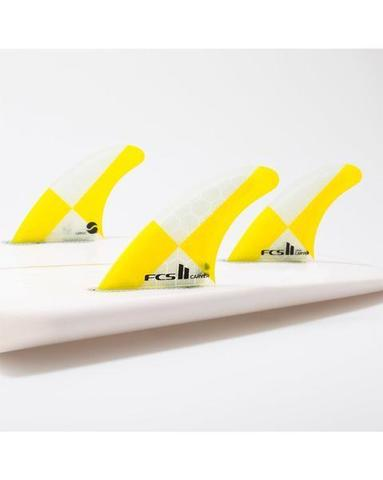 FCS II Carver PC Yellow Large Tri Retail Fins, компл. из трех, L