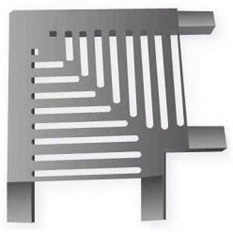 Угловая под плитку 90 градусов для переливной решетки 195х33 мм из нержавеющей стали AISI-304 XENOZONE