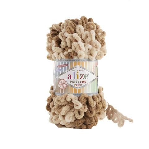 Купить Пряжа Ализе Пуффи Файн Колор Код цвета 6066 | Интернет-магазин пряжи «Пряха»