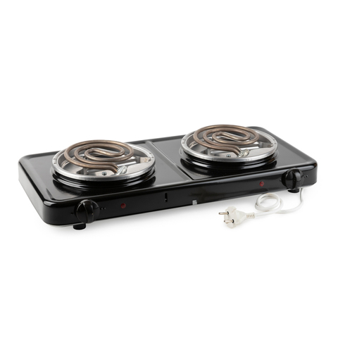 Электрическая плита Пскова 2 конфорки Черный