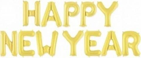 Надпись Happy New Year золотая