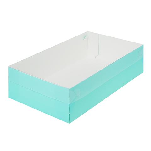 Коробка для зефира,тортов и пирожных,25*15*7см (тиффани)