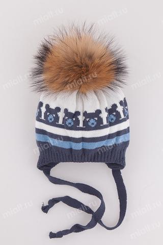 Зимняя шапка для мальчика Mialt 33 медведя