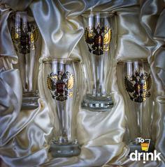 Подарочный набор из 4 стопок для водки «Герб», 60 мл, фото 3