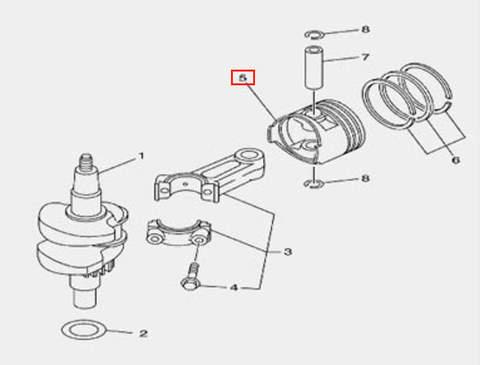 Поршень для лодочного мотора F5 Sea-PRO(3-5)