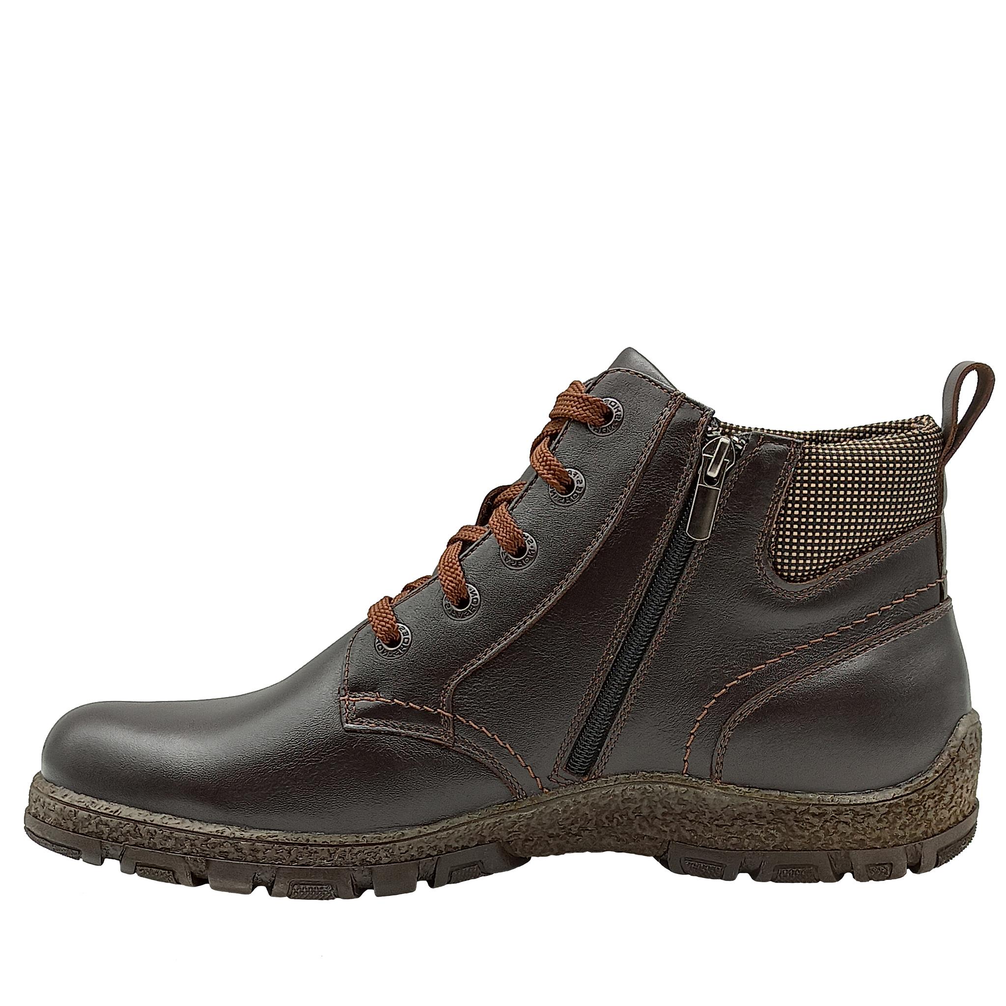 681416 ботинки мужские коричневые больших размеров марки Делфино