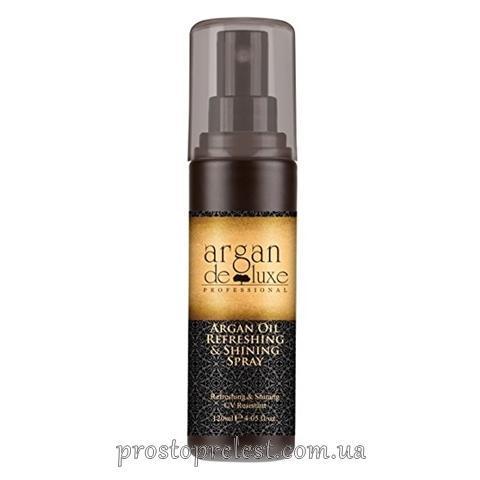 De Luxe Argan Oil Refreshing & Shining Spray - Зволожуючий спрей-блиск з олією аргани