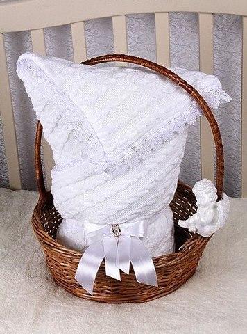 Летний конверт Косичка белый