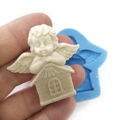 0739 Молд силиконовый. Ангел Хранитель дома.