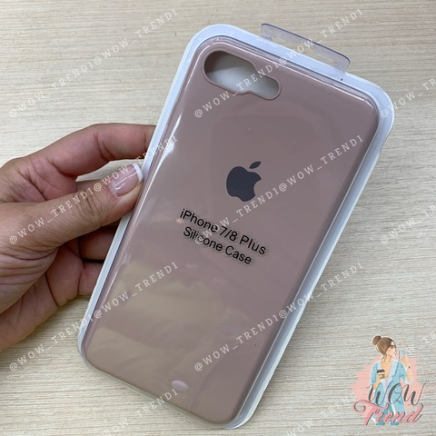 Чехол iPhone 7/8 Plus Silicone Slim Case /pink sand/