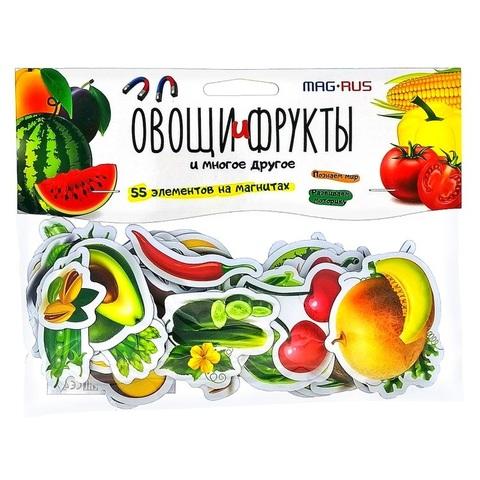 Mag-Rus Набор магнитов Овощи, фрукты разные продукты серия Познаем мир Анданте NF1051