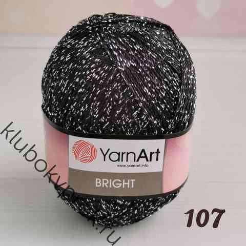 YARNART BRIGHT 107, Черный серебро