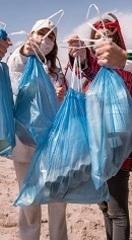 Мешки мусорные 120л 70х110 (30) с завязкой Универсальные (голубые)