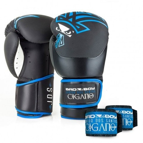 Перчатки для бокса Bad Boy Junior Dos Santos Boxing Gloves Black/Blue 16oz