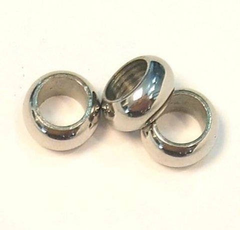 Бусина/рондель 10х4,8 мм сталь