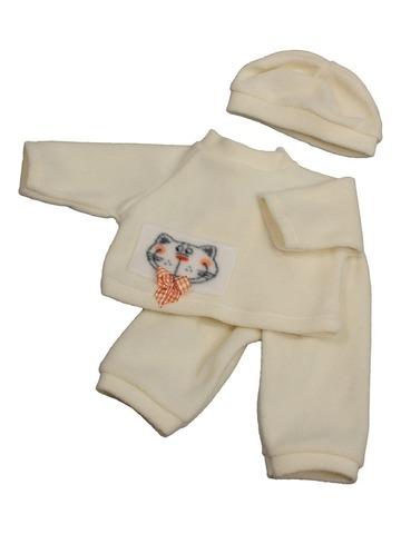 Пижама флис - Кремовый. Одежда для кукол, пупсов и мягких игрушек.