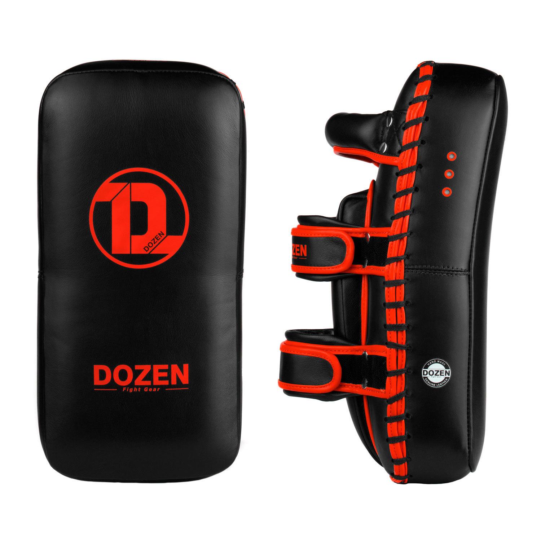 Пады Dozen Monochrome черно-красные боковой и фронтальный вид