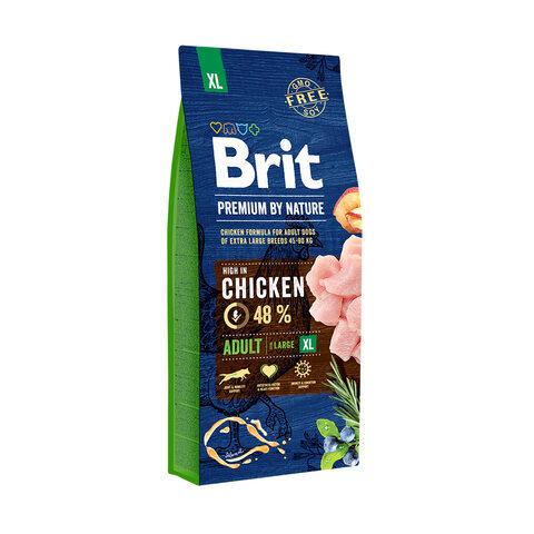 Купить сухой корм Brit Premium by Nature Adult XL для взрослых собак очень крупных пород (45–90 кг)