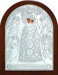 Серебряная икона Божией Матери Прибавление ума 16х12см