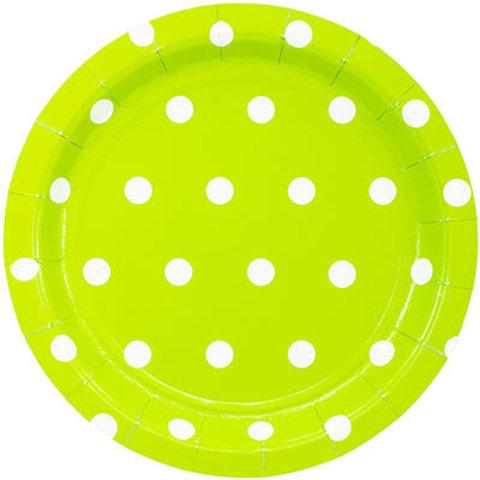1502-3917 Тарелки малые Горошек салатовые, 17 см., 6 шт