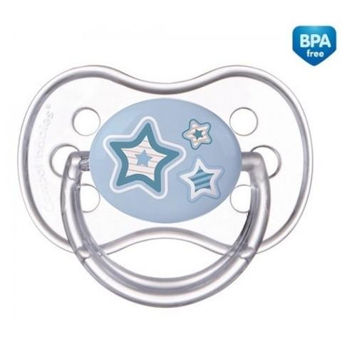 Canpol. Пустышка круглая силиконовая Newborn baby 0-6 мес, голубой