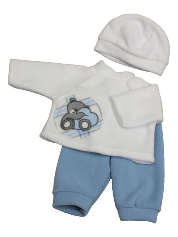 Пижама флис - Голубой. Одежда для кукол, пупсов и мягких игрушек.