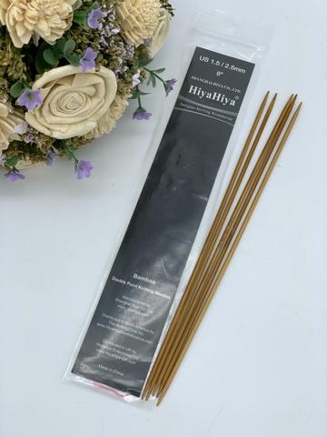 Hiya-Hiya Bamboo Чулочные спицы бамбук (20см) 2,5 мм