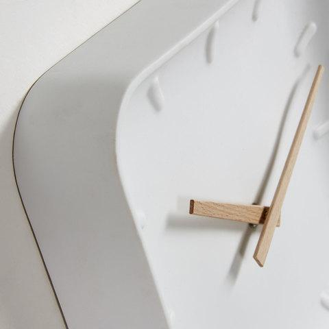 Часы настенные Wanu белые 26 x 26 см