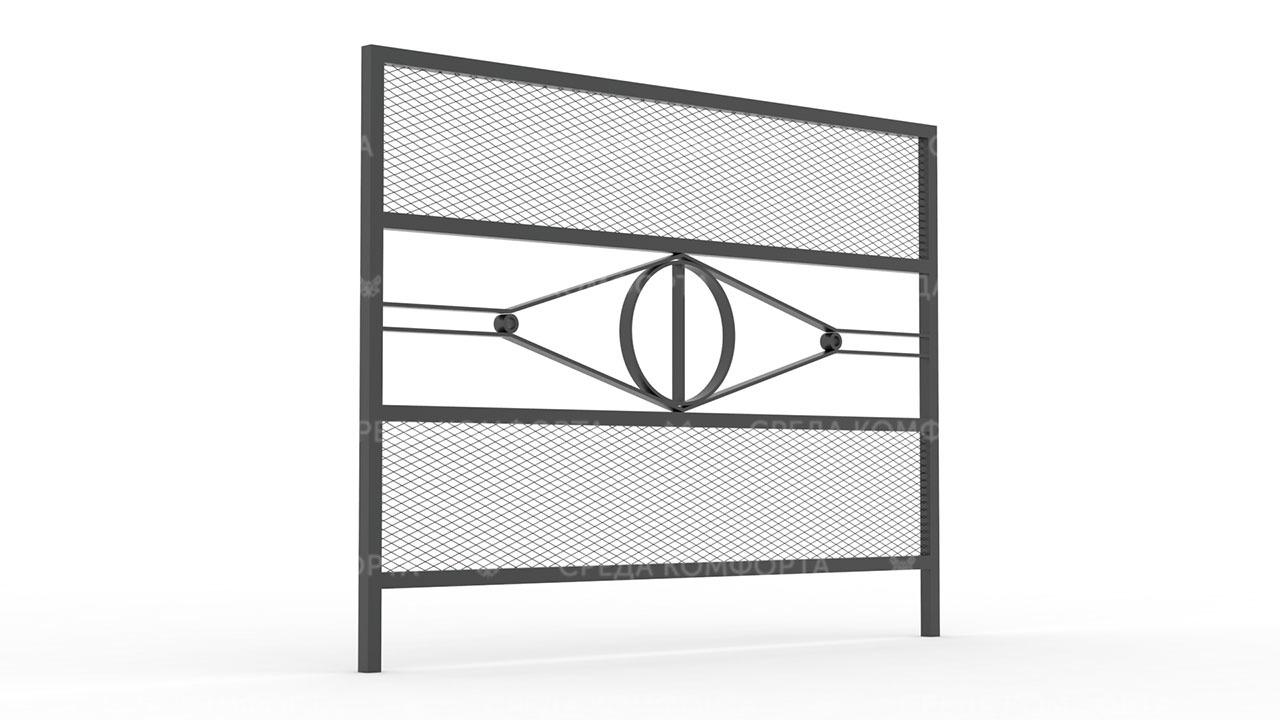 Забор из сетки рабицы ZBR0172