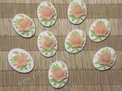 Кабошон Персиковая роза 18*23 мм