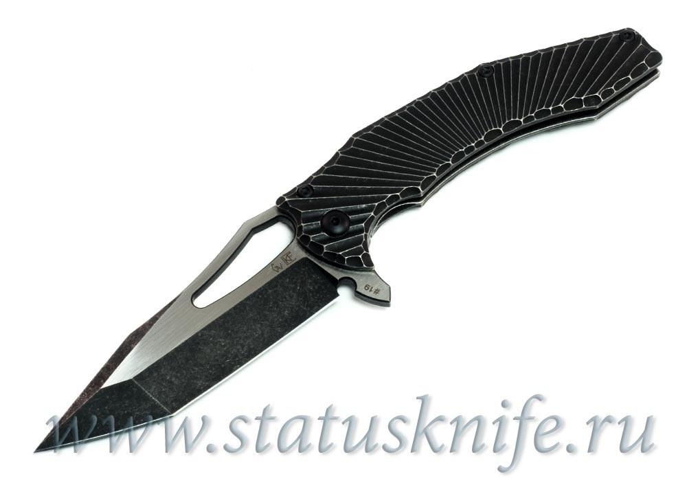 Нож CKF/GAVKO Spinner Flipper (M390, титан) - фотография
