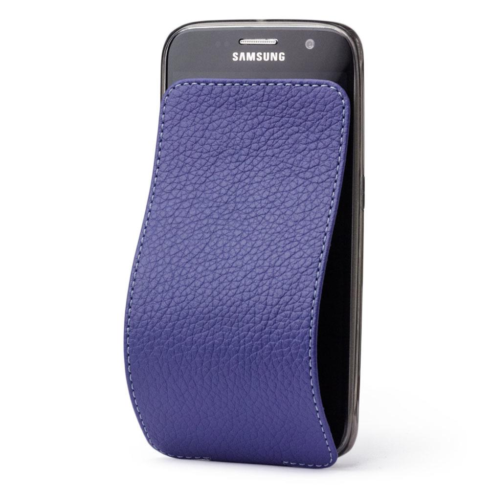 Чехол для Samsung Galaxy S6 из натуральной кожи теленка, цвета сирени