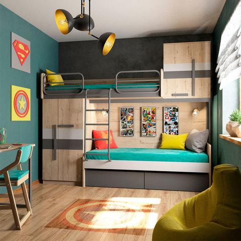 Набор «Лофт» с двухъярусной кроватью