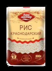 """Рис """"Агромастер"""" круглый шлифованный Краснодарский 800 г"""