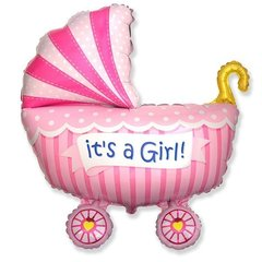 Фигурный шарик из фольги Коляска - Это Девочка!