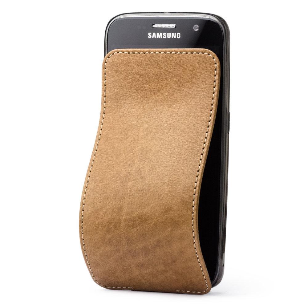 Чехол для Samsung Galaxy S6 из натуральной кожи теленка, цвета винтаж