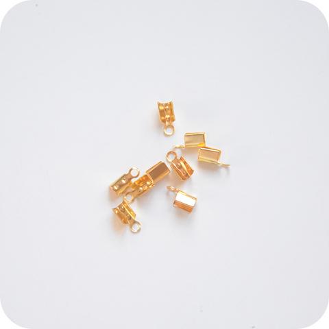 Зажим для узла 6*2*3мм, золото