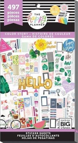 Блокнот со стикерами для ежедневникаValue Pack Stickers -Color Story- 497 шт