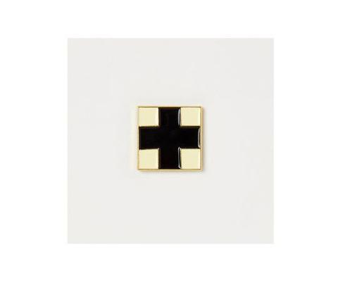 Значок металлический Авангард: Черный крест