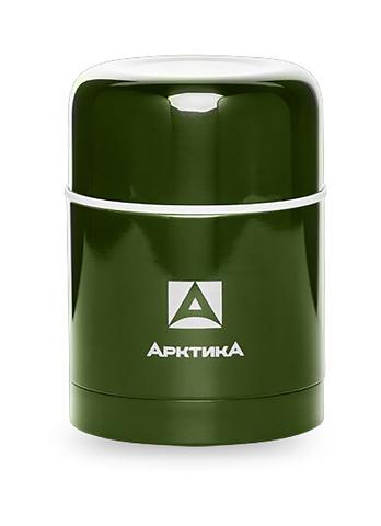 Термос для еды Арктика (0,5 литра) с супер-широким горлом, болотный