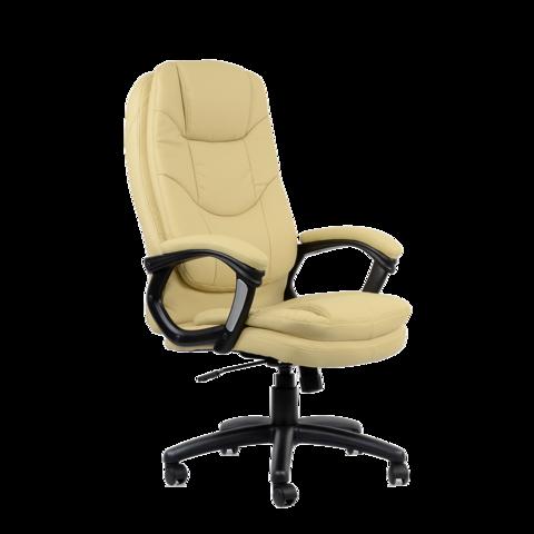 Кресло  для руководителя бежевая кожа