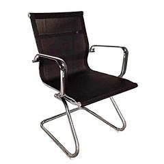 Конференц-кресло Easy Chair 711 VN на полозьях черное (сетка/металл хромированный)